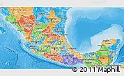 Political Shades 3D Map of Sinaloa