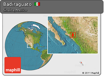 Free Satellite Location Map Of Badiraguato