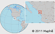 Gray Location Map of Concordia