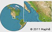 Satellite Location Map of Concordia