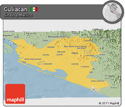 Culiacan Sinaloa Mexico Map.Free Savanna Style Panoramic Map Of Culiacan