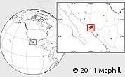 Blank Location Map of El Fuerte