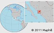 Gray Location Map of El Fuerte