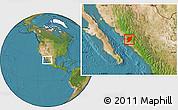 Satellite Location Map of El Fuerte