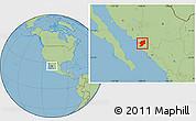 Savanna Style Location Map of El Fuerte