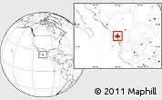 Blank Location Map of El Rosario