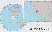 Gray Location Map of El Rosario