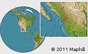 Satellite Location Map of El Rosario