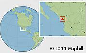 Savanna Style Location Map of El Rosario