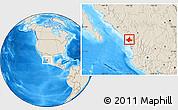 Shaded Relief Location Map of El Rosario