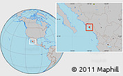 Gray Location Map of Elota