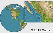 Satellite Location Map of Elota