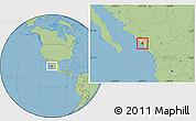Savanna Style Location Map of Elota