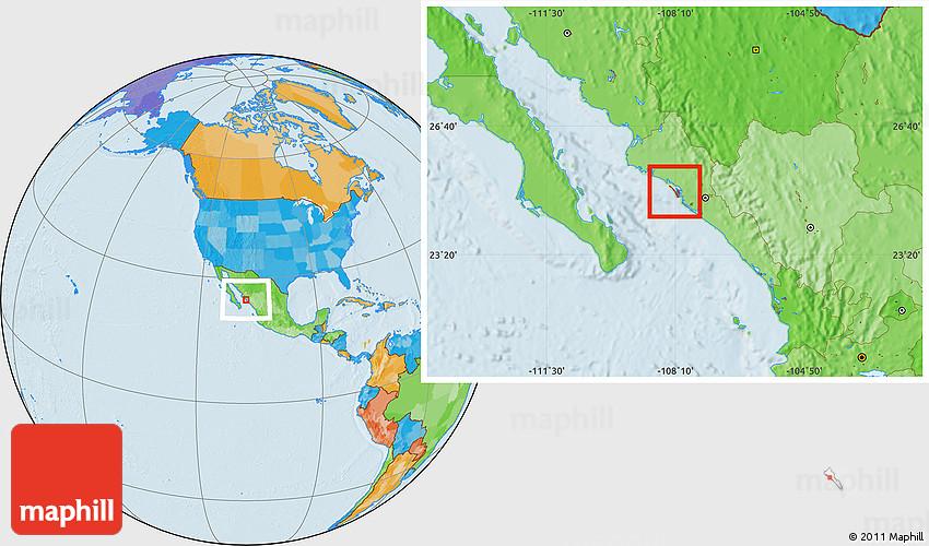Altamira Mexico Map.Political Location Map Of Isla Altamira