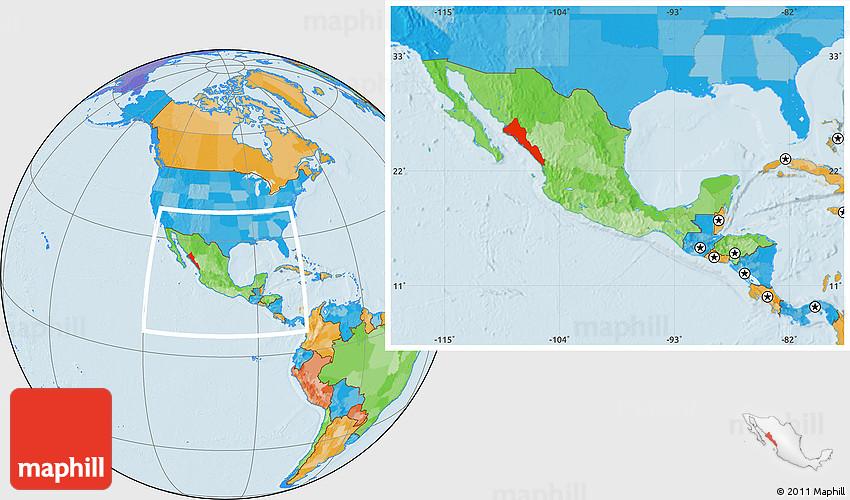 Mexico Map Sinaloa.Political Location Map Of Sinaloa