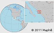 Gray Location Map of Mocorito