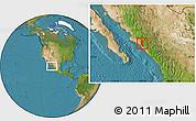 Satellite Location Map of Mocorito