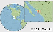 Savanna Style Location Map of Mocorito
