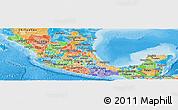 Political Shades Panoramic Map of Sinaloa