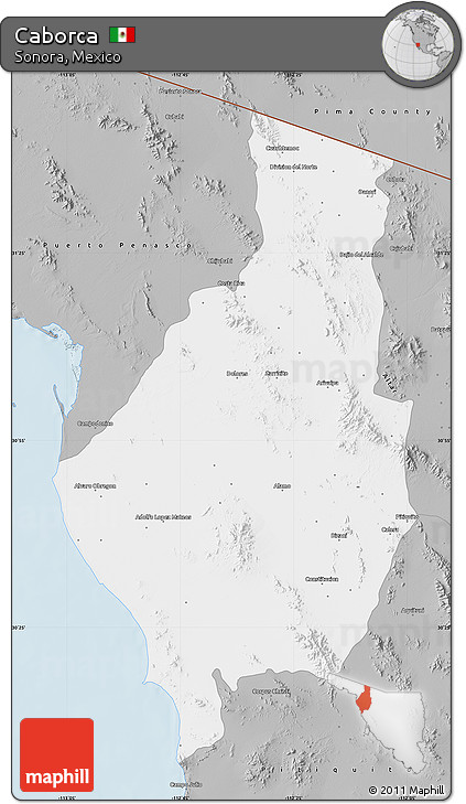 Free Gray Map Of Caborca