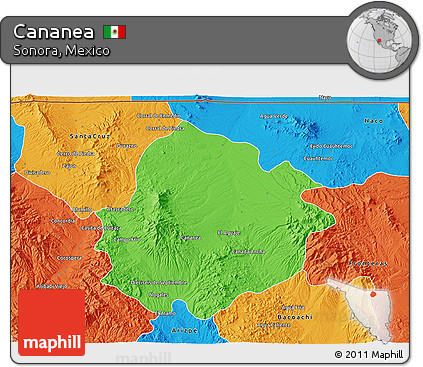 Cananea Mexico Map.Free Political 3d Map Of Cananea