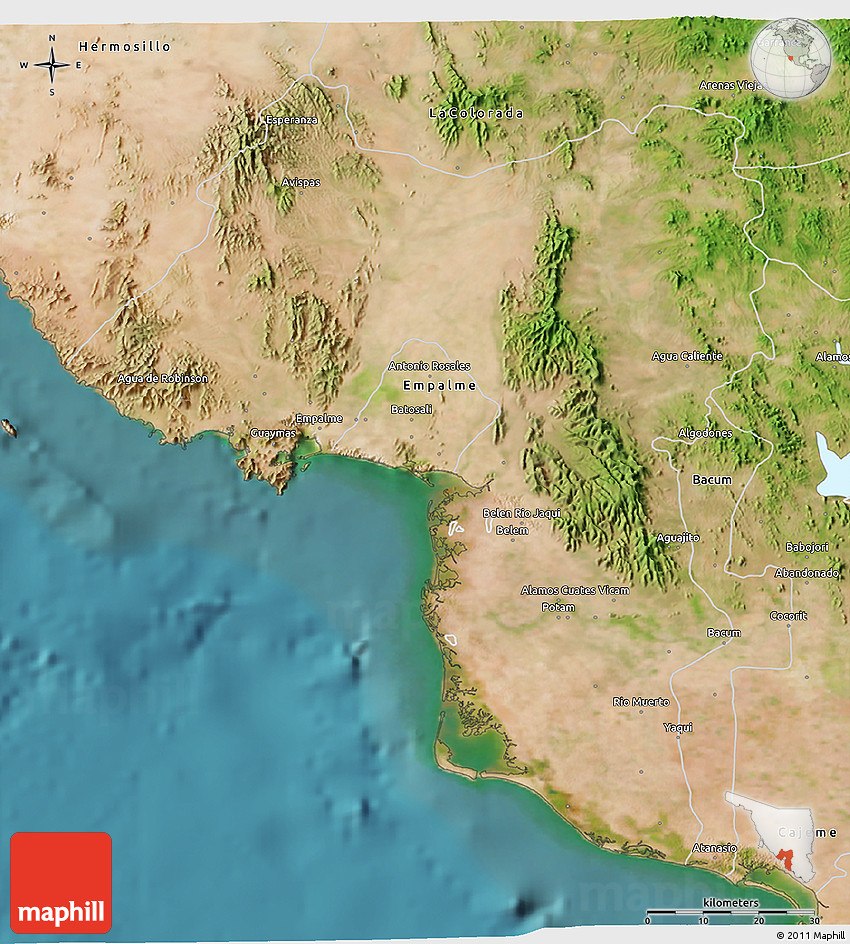 Satellite 3d Map Of Guaymas