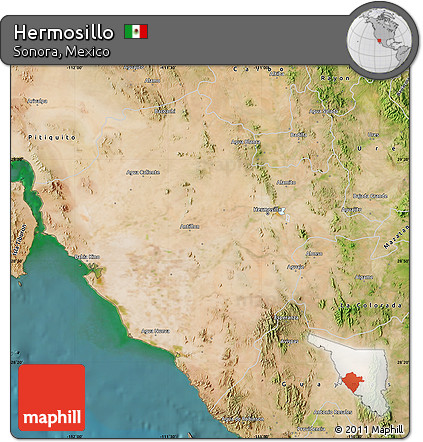 satellite map of hermosillo