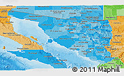 Political Shades Panoramic Map of Sonora