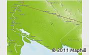 Physical 3D Map of San Luis Rio Colorado