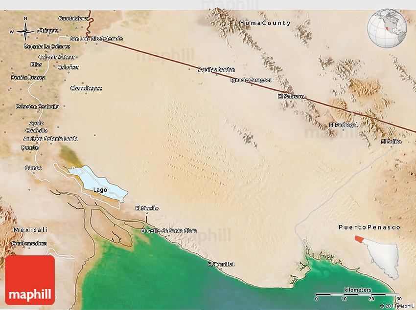 Satellite 3d Map Of San Luis Rio Colorado