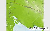 Physical Map of San Luis Rio Colorado
