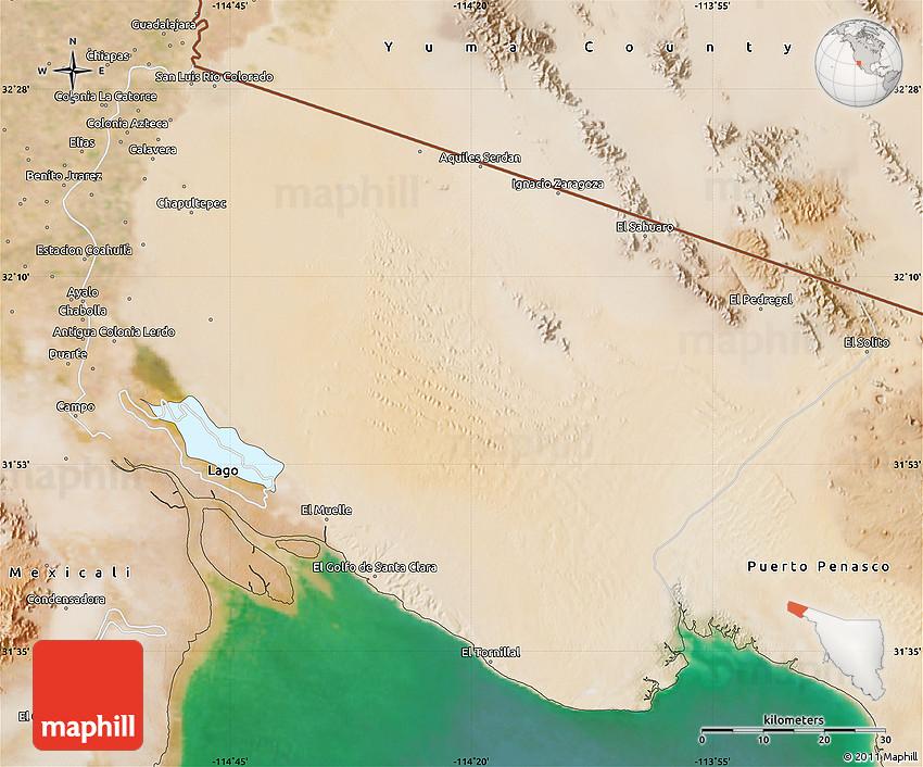 Satellite Map Of San Luis Rio Colorado
