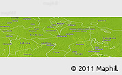 Physical Panoramic Map of Centro