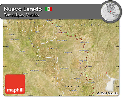 Free Satellite Map of Nuevo Laredo