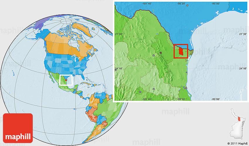 Political Location Map of Reynosa