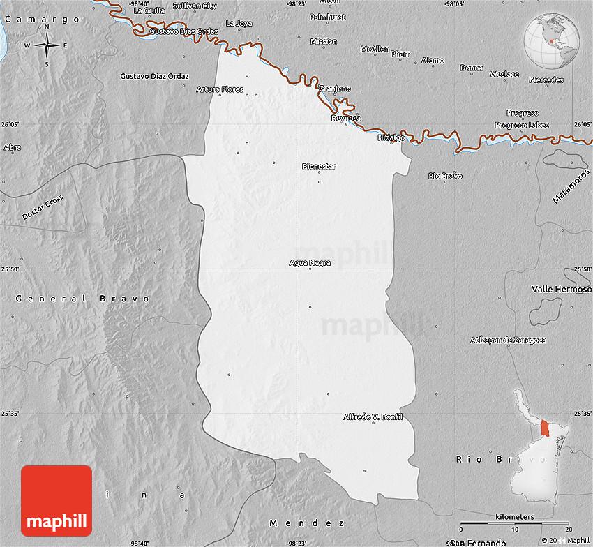 Gray Map of Reynosa