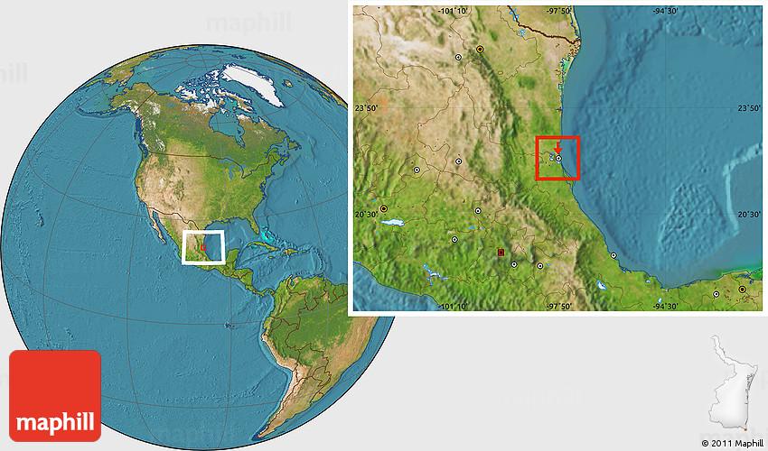 Satellite Location Map of Tampico