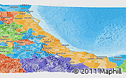 Political Shades Panoramic Map of Veracruz
