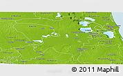 Physical Panoramic Map of Panuco