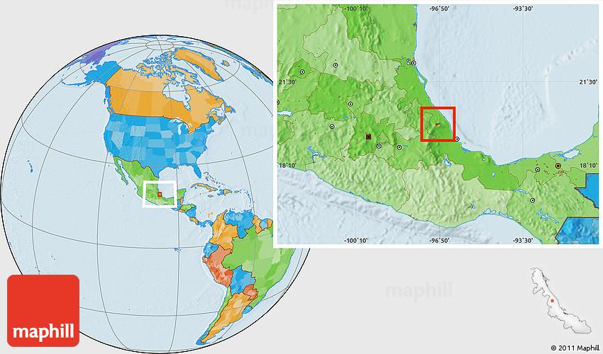 Political Location Map of Tenochtitlan