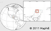 Blank Location Map of Cacalchen