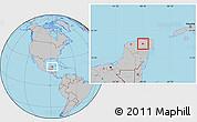 Gray Location Map of Calotmul