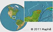 Satellite Location Map of Calotmul