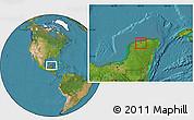 Satellite Location Map of Cansahcab
