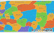 Political 3D Map of Cenotillo
