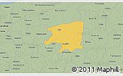 Savanna Style 3D Map of Cenotillo