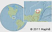 Savanna Style Location Map of Chacsinkin, highlighted parent region, hill shading