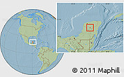Savanna Style Location Map of Chacsinkin, hill shading