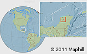 Savanna Style Location Map of Chapab, hill shading
