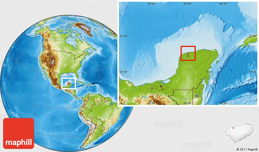 Physical Location Map of Chicxulub Pueblo on charlevoix map, manson crater, chesapeake bay map, yellowstone caldera, valle de bravo map, valladolid map, manicouagan crater, campeche map, shiva crater, chesapeake bay impact crater, extinction event, governor's harbour map, san miguel map, san jose del cabo map, la cruz de huanacaxtle map, saint martin map, patzcuaro map, beaverhead crater, wilkes land crater, vredefort crater, meteor crater, sudbury basin, late devonian extinction, la penita map, puerto nuevo map, sudbury map, isla mujeres map, chiapas map, san bruno map, san benito map, coba map, acraman crater, mexico map, impact crater, snowball earth,